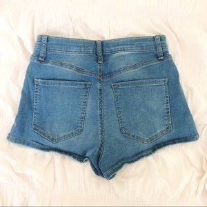 Free People Shorts - FREE PEOPLE Blue Denim Jean High Waisted Shorts